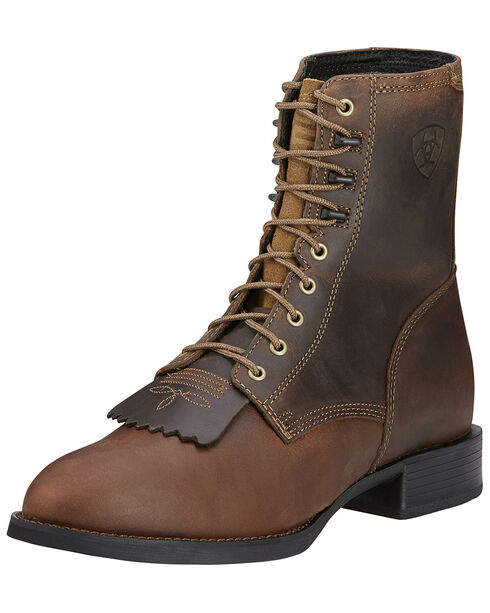 Ariat Men's Heritage Lacer Western Boots, Distressed, hi-res