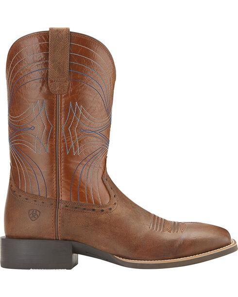 Ariat Men's Sport Square Toe Western Boots, Sandstorm Brown, hi-res