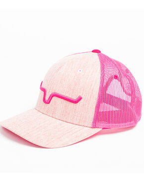 Kimes Ranch Men's Weekly Trucker Cap , Bright Pink, hi-res
