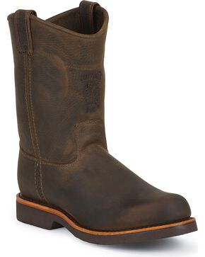 Chippewa Men's Utility Steel Toe Work Boots, Chocolate, hi-res