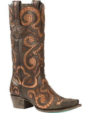 Lane Women's Paulina Western Fashion Boots, Black, hi-res