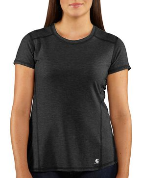Carhartt Women's Force Short Sleeve Shirt, Black, hi-res