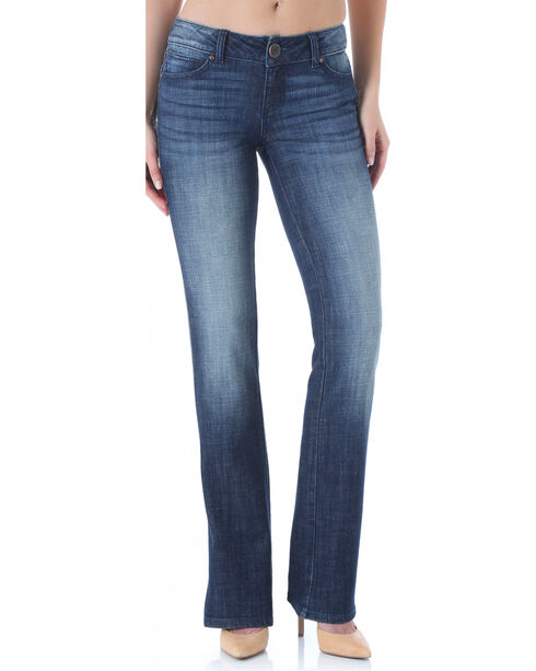 Wrangler Women's Mae Booty Up Cut Jeans, Dark Blue, hi-res