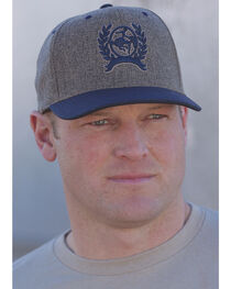 Cinch Men's Grey and Blue Logo Baseball Cap , , hi-res