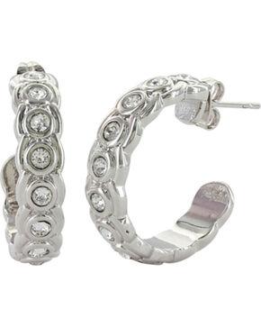 Montana Silversmiths Women's Silver Brilliant Horseshoe Hoop Earrings , Silver, hi-res