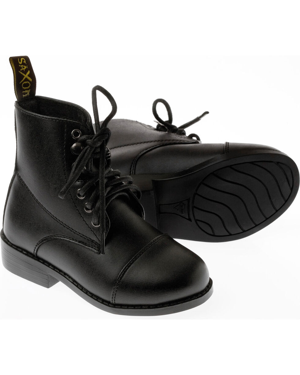 Saxon Kids' Equileather Lace Boots, , hi-res