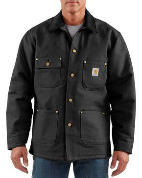 Carhartt Men's Duck Chore Coat, Black, hi-res