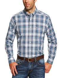 Ariat Men's Navy Morse Long Sleeve Shirt - Big and Tall , , hi-res