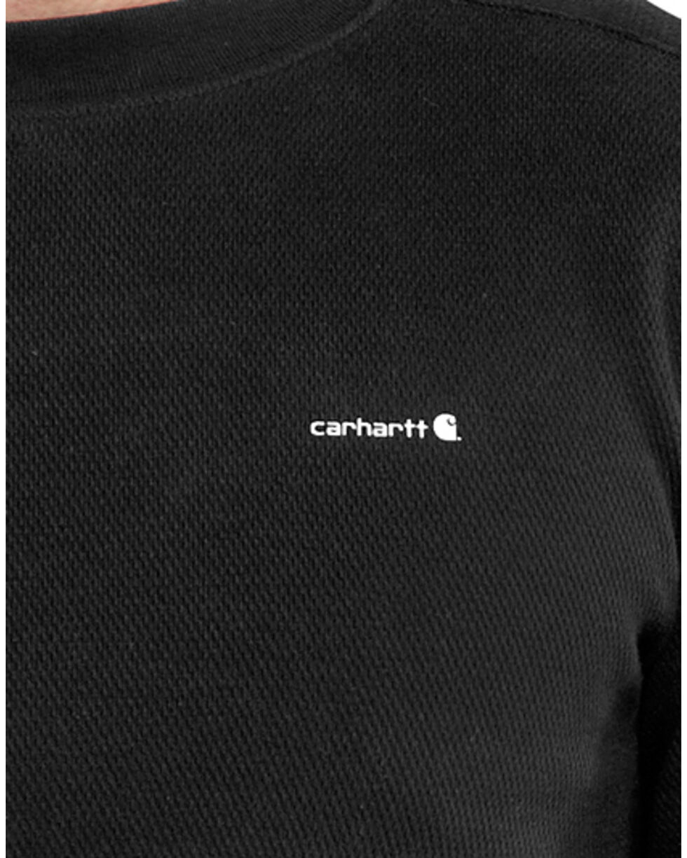 Carhartt Moisture-Wicking Thermal Under Shirt - Big & Tall, Black, hi-res