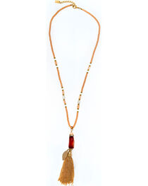 Sincerely Mary Women's Carman Beaded Tassel Necklace, , hi-res