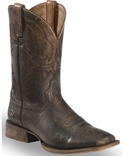 Ariat Men's Distressed Brown Circuit Dayworker Western Boots - Square Toe, Brown, hi-res