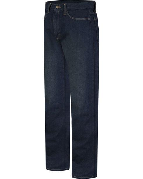 Bulwark Men's Flame-Resistant Straight Fit Sanded Denim Jeans , Blue, hi-res