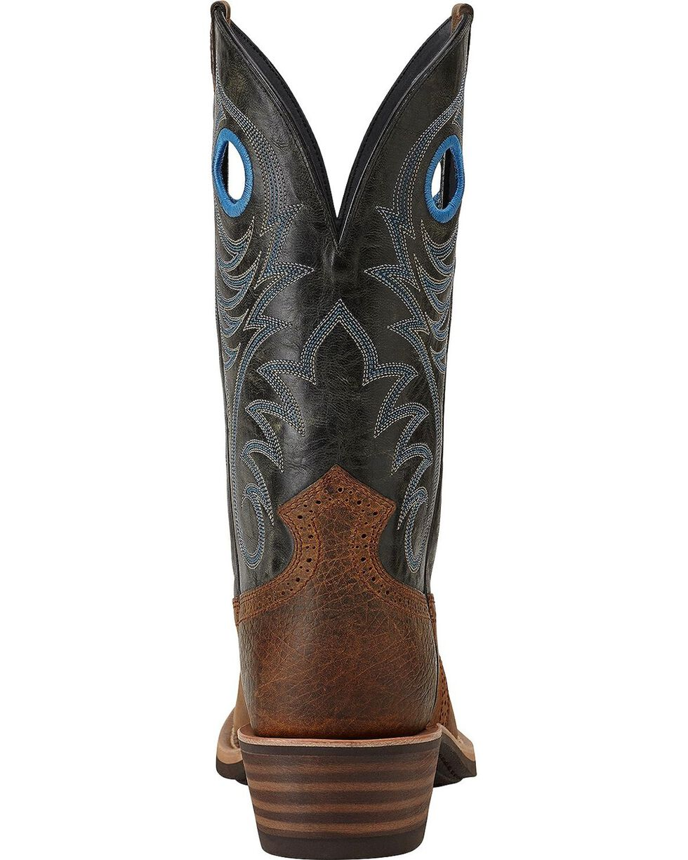 "Ariat Men's 12"" Heritage Roughstock Western Boots, Earth, hi-res"