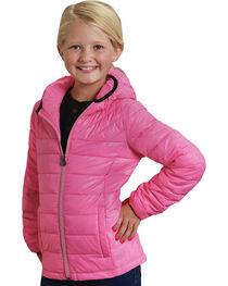 Roper Girls' RangeGear Crushable Hooded Jacket , Pink, hi-res
