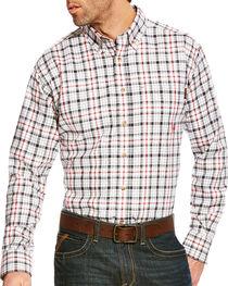 Ariat Men's Briggs Grey Multi FR Plaid Button Work Shirt - Big & Tall, , hi-res