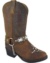 Smoky Mountain Youth Girls' Starlight Western Boots - Round Toe, , hi-res