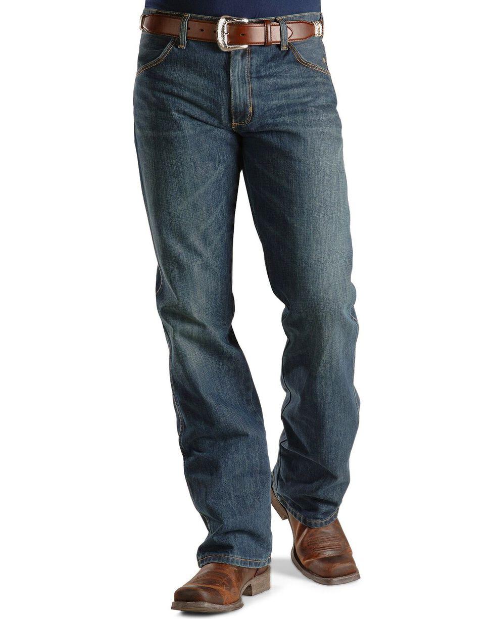 Wrangler Retro Men's Slim Fit Boot Cut Jeans, Med Wash, hi-res