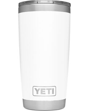 Yeti Red Rambler 20oz Sliding Lid Tumbler , White, hi-res