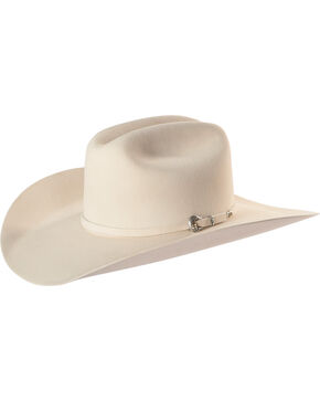 Justin Bent Rail Men's Ivory 25X The Boss Cowboy Hat, Ivory, hi-res