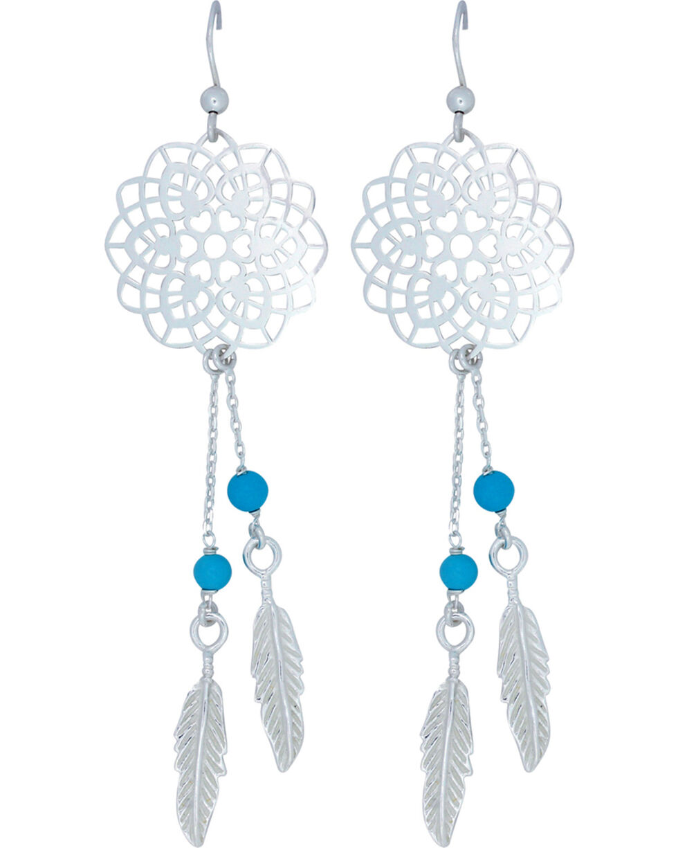 Montana Silversmiths Dream Weavers Earrings, Silver, hi-res
