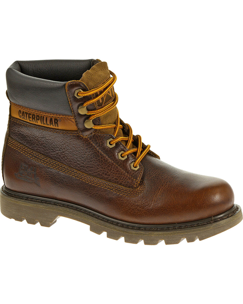 "Caterpillar Colorado 6"" Lace-Up Work Boots - Round Toe, Ginger, hi-res"