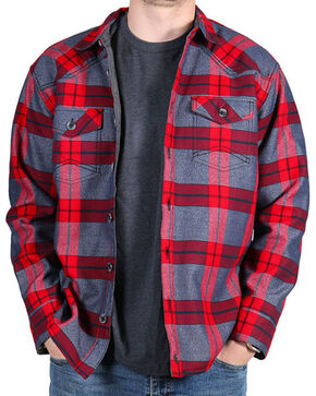 Cody James® Men's Carson City Plaid Fleece Lined Flannel, Grey, hi-res