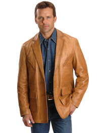Scully Men's Whipstitch Leather Blazer, , hi-res