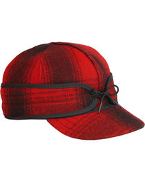 Stormy Kromer Men's Red & Black Plaid Original Cap, , hi-res