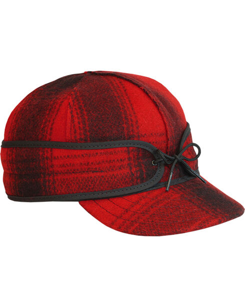 Stormy Kromer Men's Red & Black Plaid Original Cap, Multi, hi-res