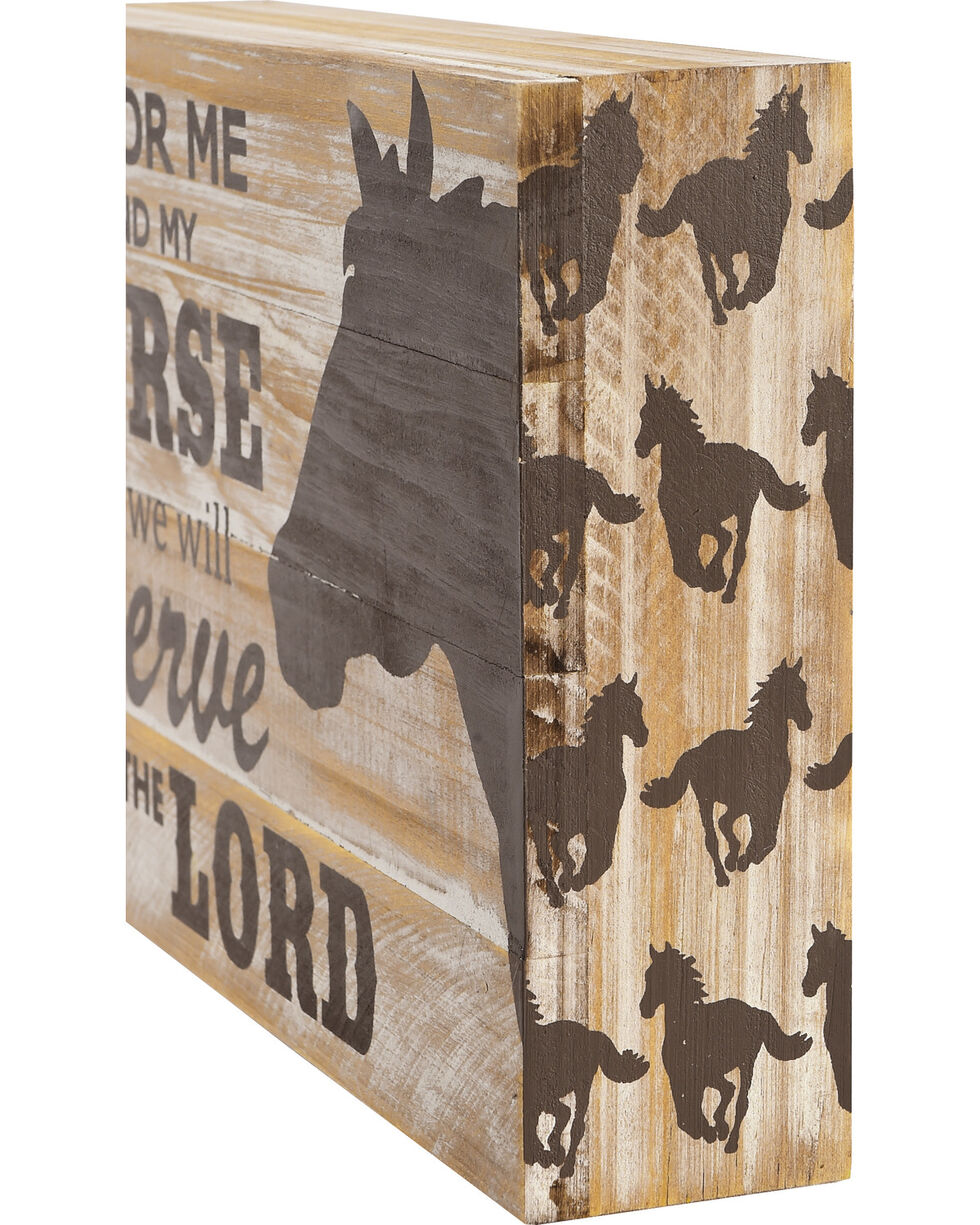 BB Ranch Serve The Lord Horse Table Sign, No Color, hi-res