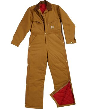 Carhartt Men's Duck Quilt Lined Coverall, Brown, hi-res