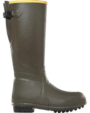 "Lacrosse Men's 18"" Burly Air-Grip 800G Outdoor Boots, Olive, hi-res"