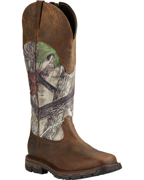 Ariat Men's Conquest Waterproof Snakeproof Boots, Earth, hi-res