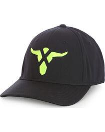 Wrangler Men's 20X Black Neon Stretch Fit Bull Cap, , hi-res