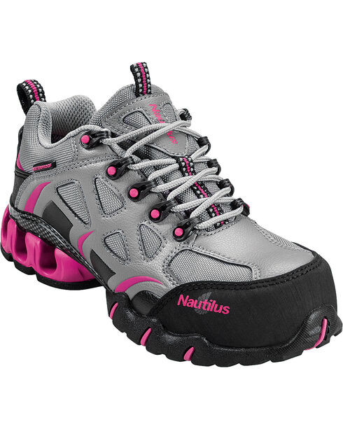 Nautilus Women's Composite Toe EH Waterproof Athletic Work Shoes, Grey, hi-res