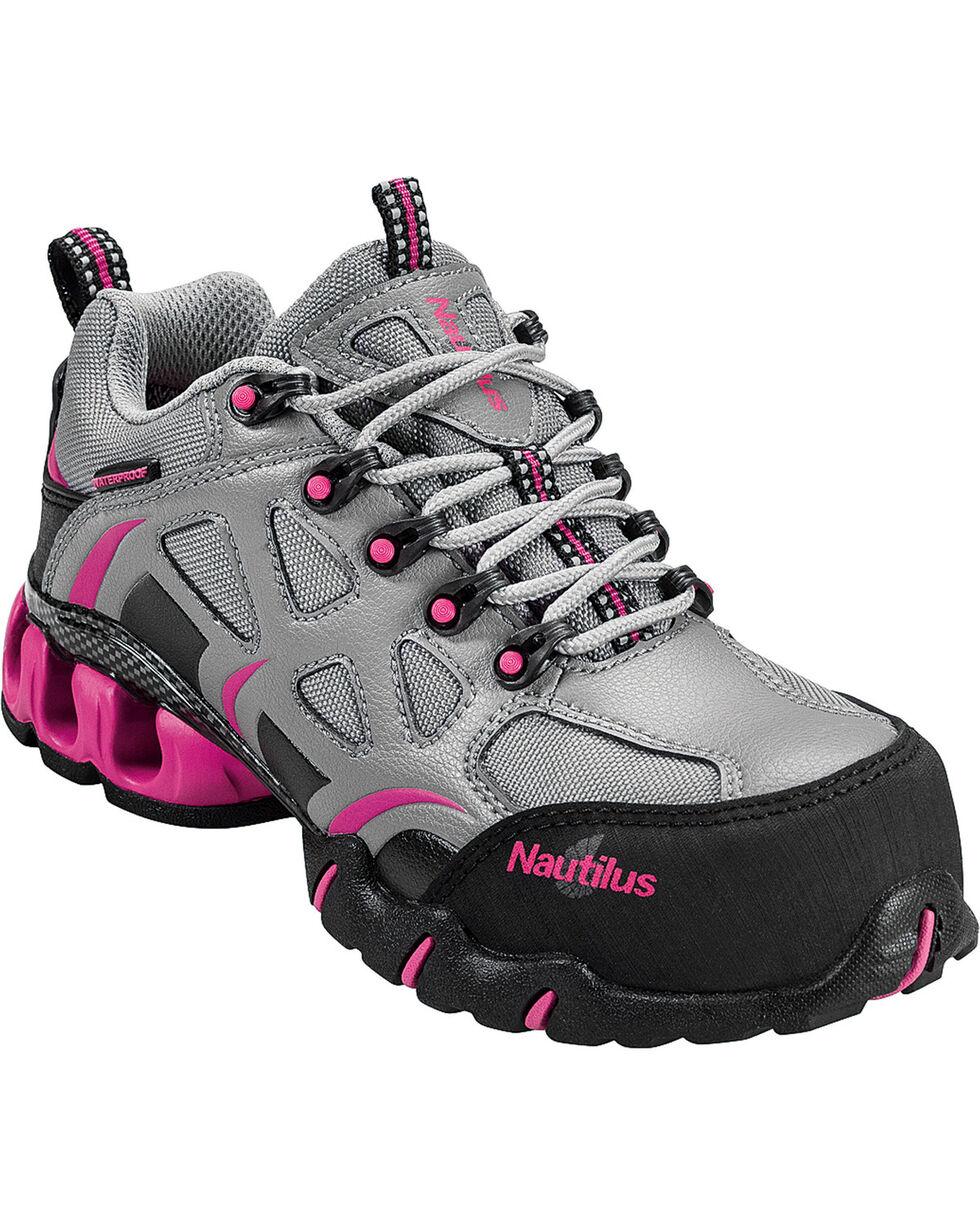 Nautilus Women's Composite Toe EH Waterproof Athletic Work Shoes, Grey, hi-res