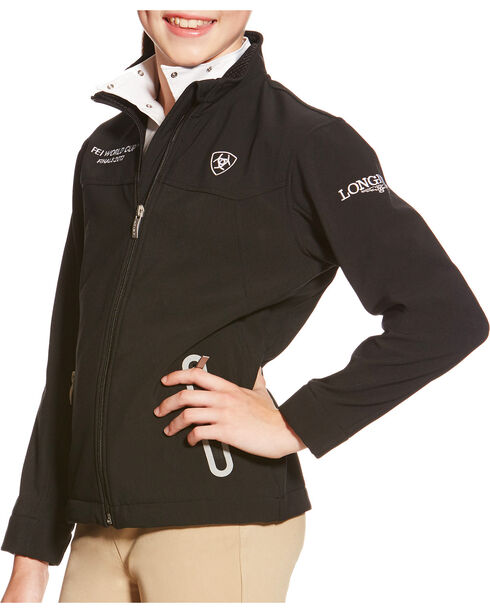 Ariat Youth FEI World Cup Team Softshell Jacket, , hi-res