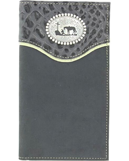 Nocona Belt Co Men's Christian Cowboy Rodeo Wallet and Checkbook Cover, , hi-res