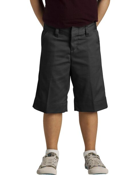 Dickies Junior Girls' Stretch Bermuda Shorts - 15-21, Black, hi-res