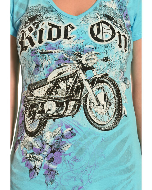 Liberty Wear Women's Ride On Tee, Aqua, hi-res