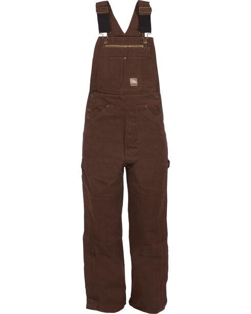 Berne Men's Unlined Washed Duck Bib Overalls - Big/Short (32) , Bark, hi-res
