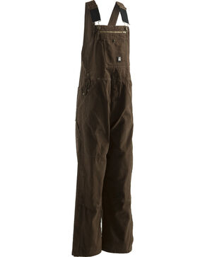 Berne Bark Unlined Washed Duck Bib Overalls - XTall, Bark, hi-res