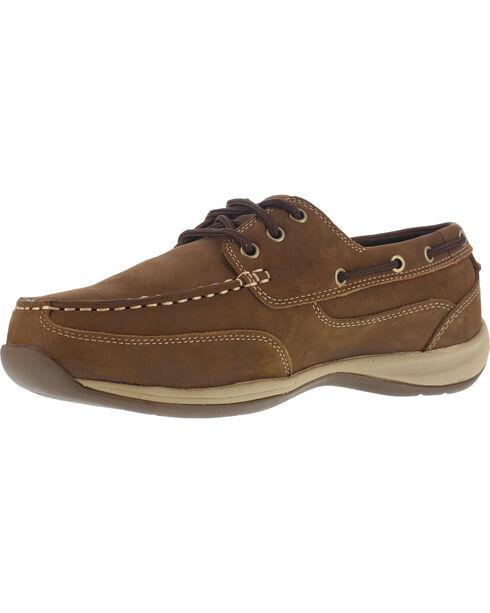 Reebok Men's Sailing Club Construction Shoes - Steel Toe , Brown, hi-res