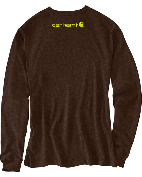 Carhartt Men's Dark Brown Signature Graphic Logo T-Shirt, Dark Brown, hi-res