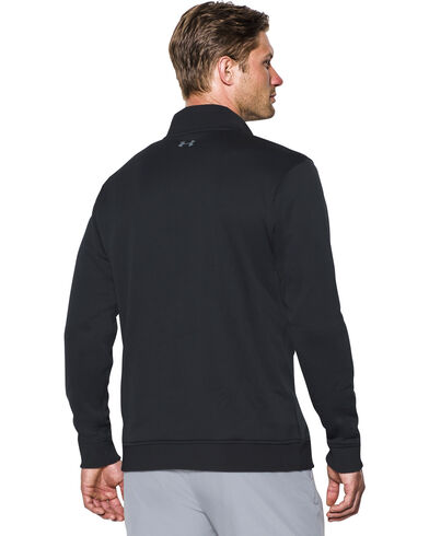Under Armour Men's Black Storm Sweater Fleece 1/4 Zip Pullover ...