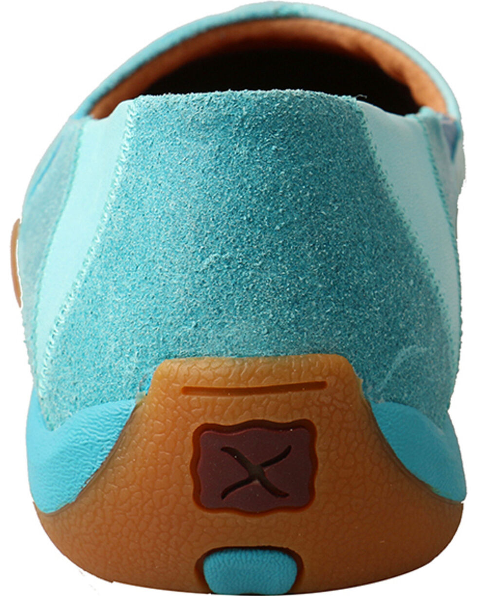Twisted X Women's Slip-On Driving Shoes, Blue, hi-res