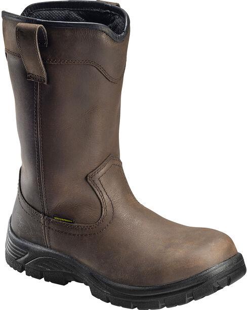 """Avenger Men's Waterproof 11"""" Wellington Work Boots, Brown, hi-res"""