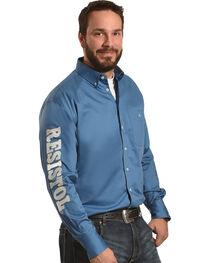 Resistol Men's Blue Argyle Marketing Western Shirt , , hi-res