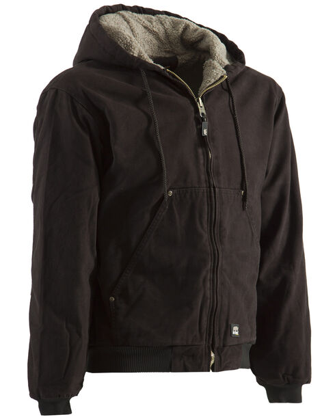 Berne High Country Hooded Jacket - Sherpa Lined, Dark Brown, hi-res