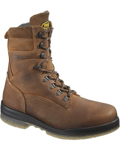"Wolverine Men's 8"" Durashocks Insulated Waterproof Electrical Hazard Steel Toe W, Stone, hi-res"
